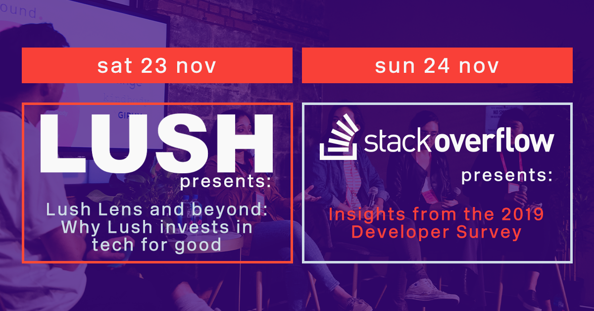 Talks at SMRnov19 featuring Lush and Stack Overflow